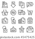 Modern flat icons set of business or black friday 45475425