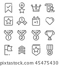 Votes and Rewards line icons vector illustration 45475430