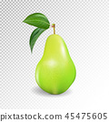Pear realistic. Vector 10EPS. Green pear, punching bag, punching ball, punchbag, punchball. 3d 45475605