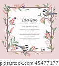 Vector illustration of floral frame with a bird 45477177
