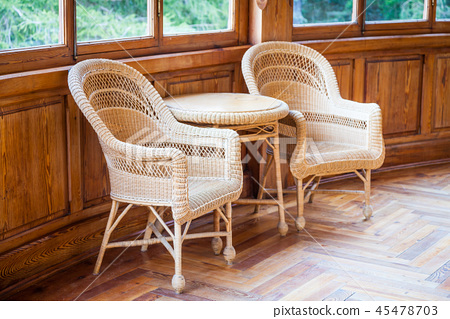 Old wicker chairs 45478703
