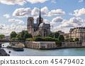 파리 세느강변에서 바라본 노트르담 대성당 45479402