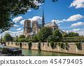 파리 세느강변에서 바라본 노트르담 대성당 45479405
