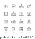 building and real estate vector line icons 45481123
