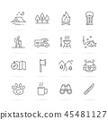 camping, icons, camp 45481127