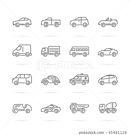 car vector line icons 45481129