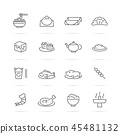 chinese food vector line icons 45481132