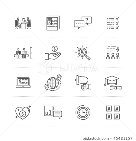 job interview vector line icons 45481157