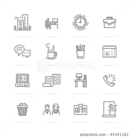 office vector line icons 45481162