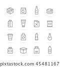 product package vector line icons 45481167