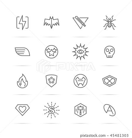 superhero power vector line icons 45481303