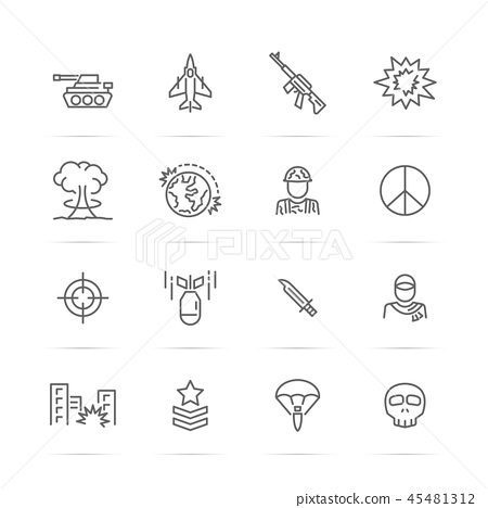 world war vector line icons 45481312