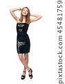 black, dress, portrait 45481759