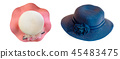 Collection of various summer hats for women. 45483475