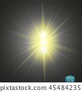 햇빛, 배경, 벡터 45484235