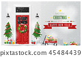 Decorated Christmas front door background 45484439