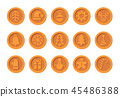 Christmas Cryptocurrency logo set - Santa Claus hat, bell, gingerbread man, ball, deer, snowman 45486388