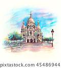 Sacre-Coeur Basilica, Paris, France 45486944