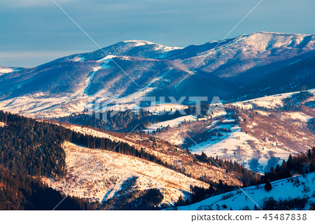 winter scenery in mountains 45487838