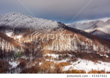 lovely winter landscape in mountains 45487882