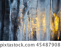 beautiful ice texture lit from behind 45487908