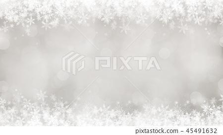 背景 - 雪 - 圣诞节 - 银 - 金葱 45491632