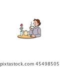티타임을 즐길 부인 45498505