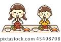 孩子吃漢堡 45498708