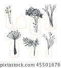 vector, flower, leaf 45501676