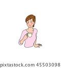 一位喜歡咖啡的女士 45503098