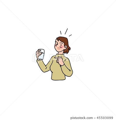 妻子積極喝水 45503099