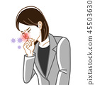 Rhinitis-health problems woman suit line drawing 45503630