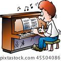 pianist, instrument, piano 45504086