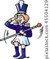 Vector Cartoon illustration of a Girl Tamburmajor 45504129