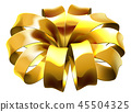Gift Ribbon Golden Bow Wrap  45504325