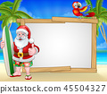 圣诞老人 圣诞老公公 海滩 45504327