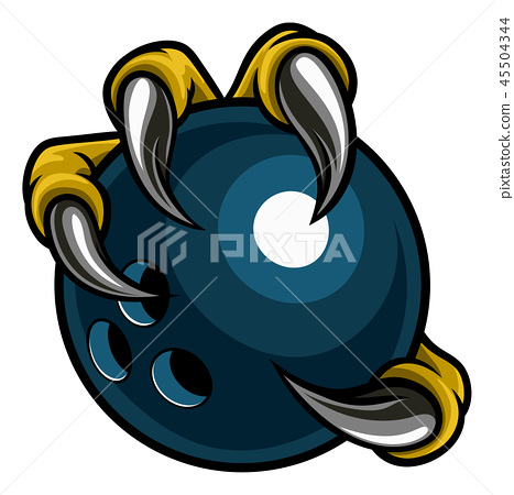 Eagle Bird Monster Claw Holding Bowling Ball 45504344