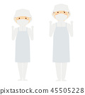 學校午餐 白衣 白袍 45505228