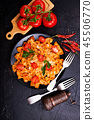 pasta with sauce 45506770