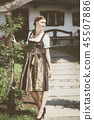 Young bavarian woman in holiday dirndl 45507886