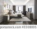 床 卧室 室内装饰 45508005