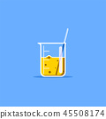 Laboratory beaker icon 45508174