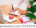 Christmas and Happy New Year blessing concept. 45509346