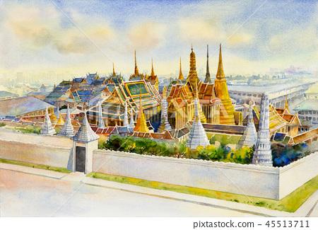 Royal grand palace at Bangkok,Thailand. 45513711