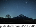 Gemini meteor shower, Mt. Fuji and meteor 45515585