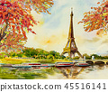 Paris european city. France, eiffel tower. 45516141