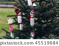 DIY handmade decoration on a Christmas tree 45519684
