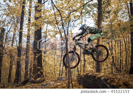 Photo of sportsman riding sports bike on track 45522155