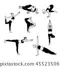 yoga, people, woman 45523506
