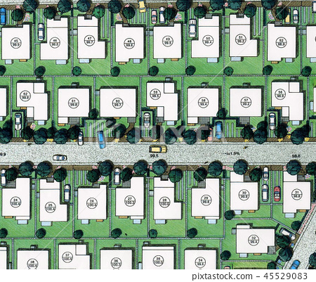 Housing arrangement plan Single-family housing complex New Town 45529083